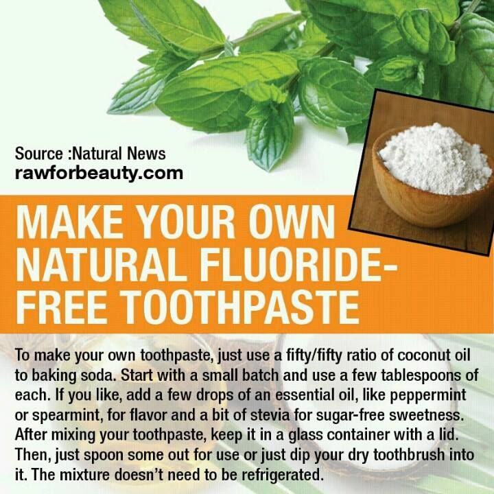 Natural Fluoride-Free Toothpaste! So easy to make! Completely natural recipe! #naturaltoothpaste #holisticliving #naturalproducts
