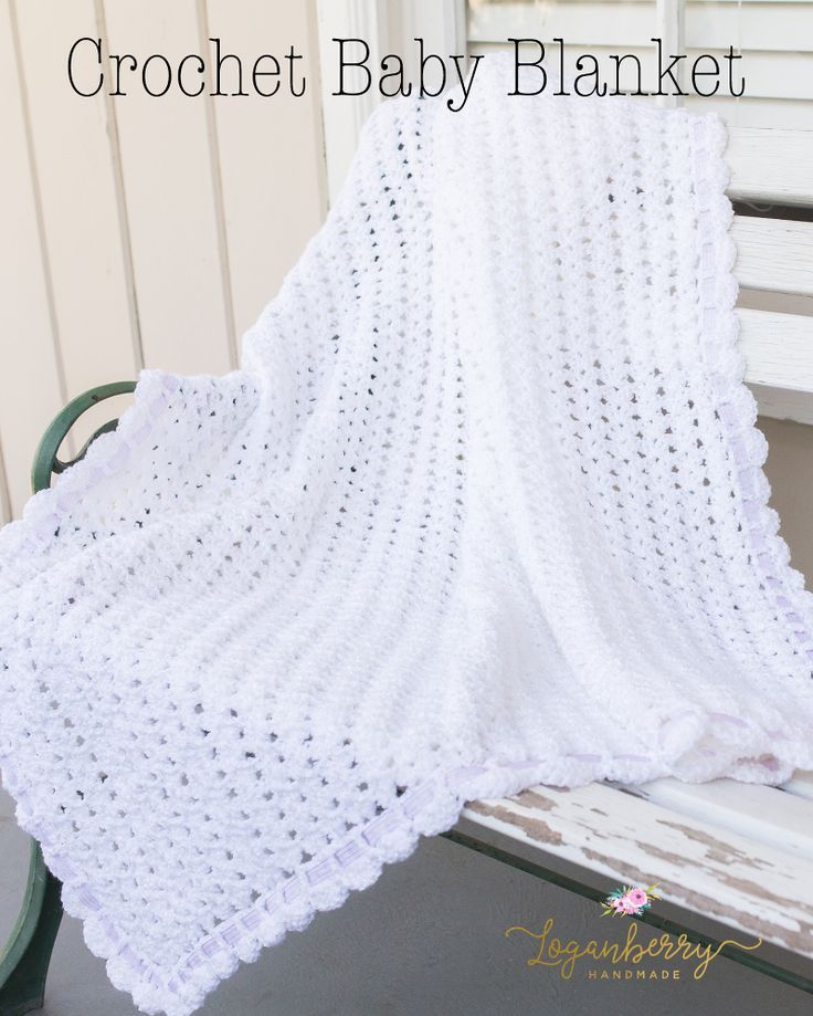 crochet baby blanket with free pattern | Crochet | Pinterest | Bebe