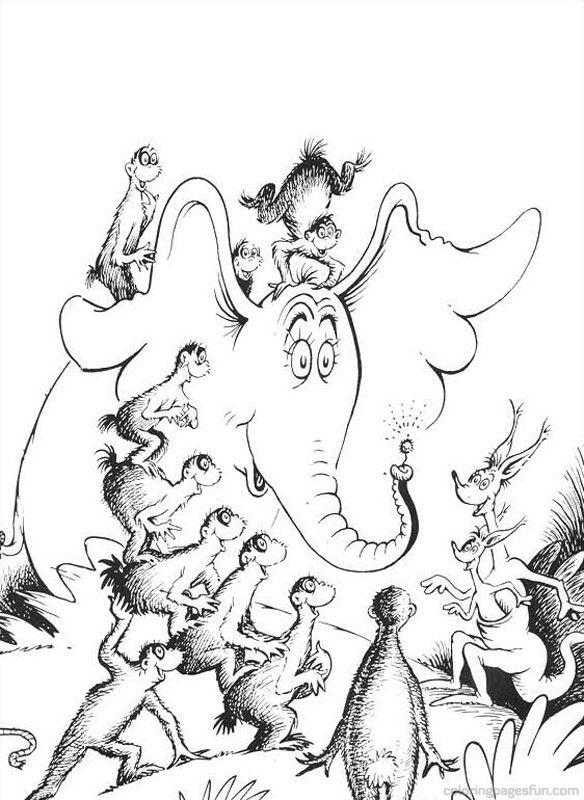 dr seuss coloring pages dr seuss horton coloring pages 63 free printable - Dr Seuss Coloring Pages Printable