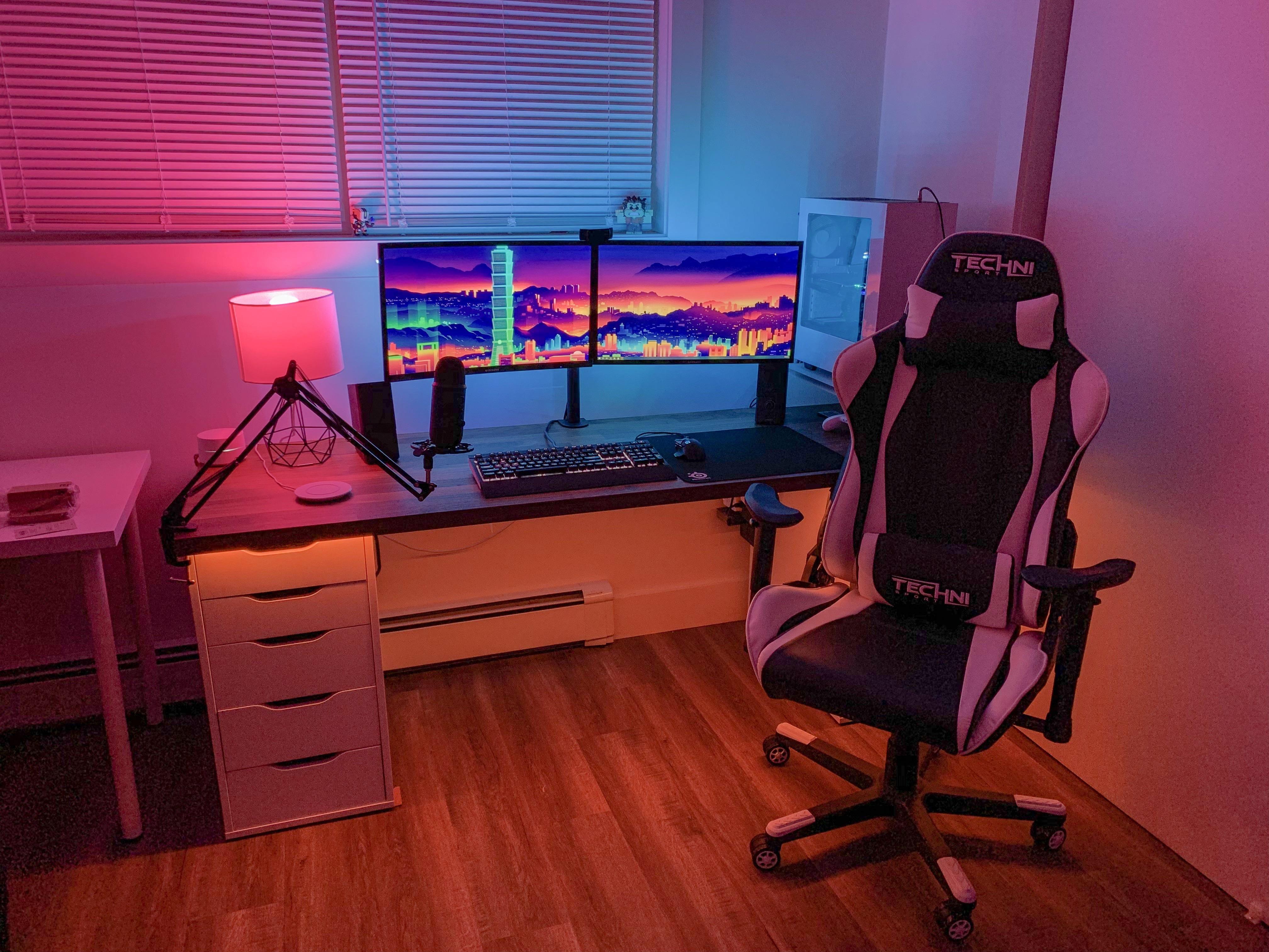 New Apartment New Battlestation Gaming Room Setup Home Office