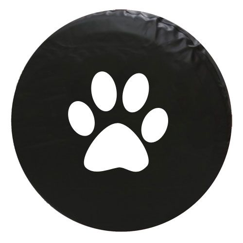 Paw Print Vinyl Spare Tire Cover Spare Tire Covers Tire Cover