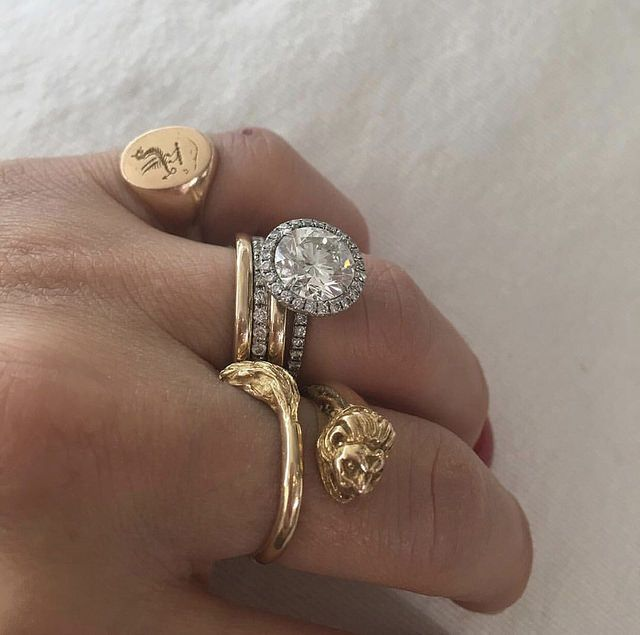 {from top to bottom:   Jewelry_Maven creates the ultimate stack from pieces from Quadrum Gall...