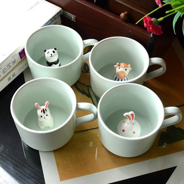 Cartoon Animals at Middle Ceramic Mugs | 4Colordress