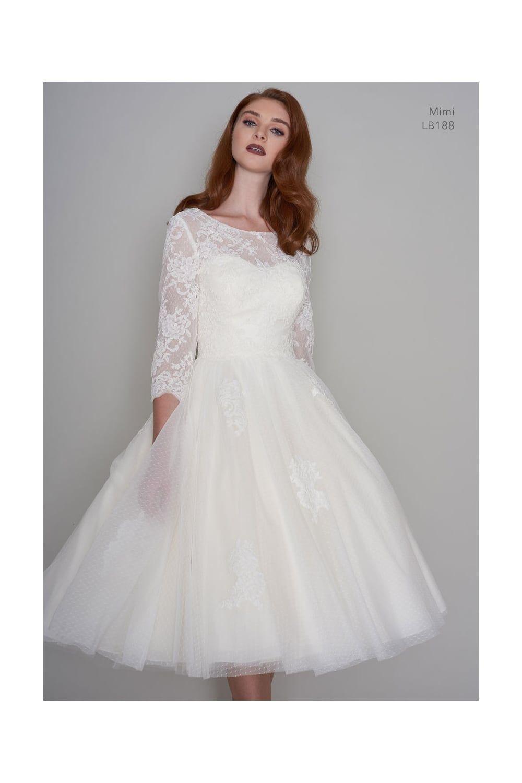44++ Tea length wedding dress with sleeves uk ideas