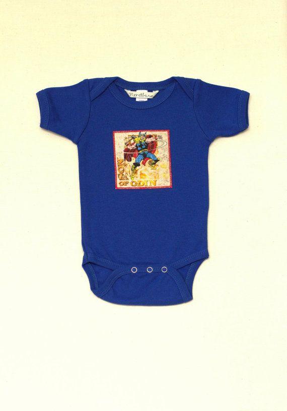 Blue Thor Baby Onesie Size 3-6 Months