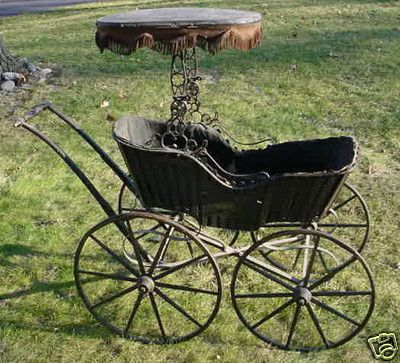 Antique 1860 S Civil War Era Baby Carriage Cradle Buggy