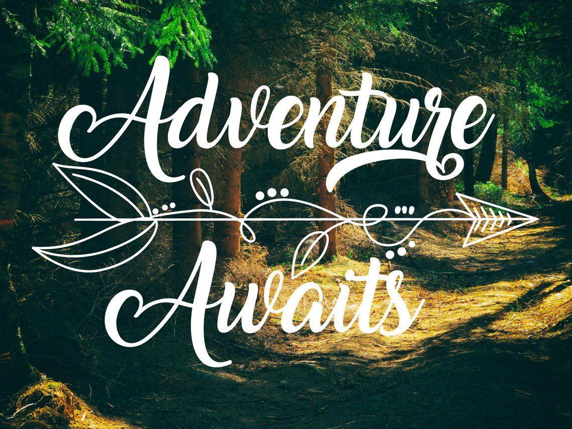 Adventure Awaits Decal Wanderlust Decal With Arrow