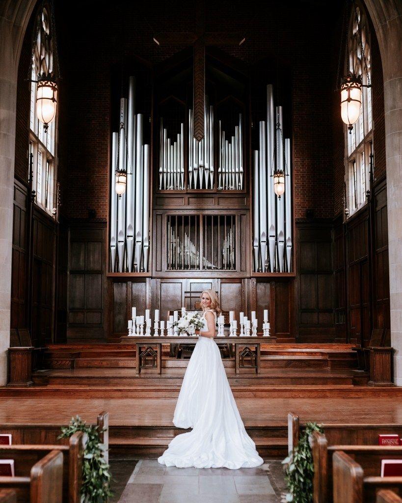 Elegant All White Wedding At Scarritt Bennett Nashville