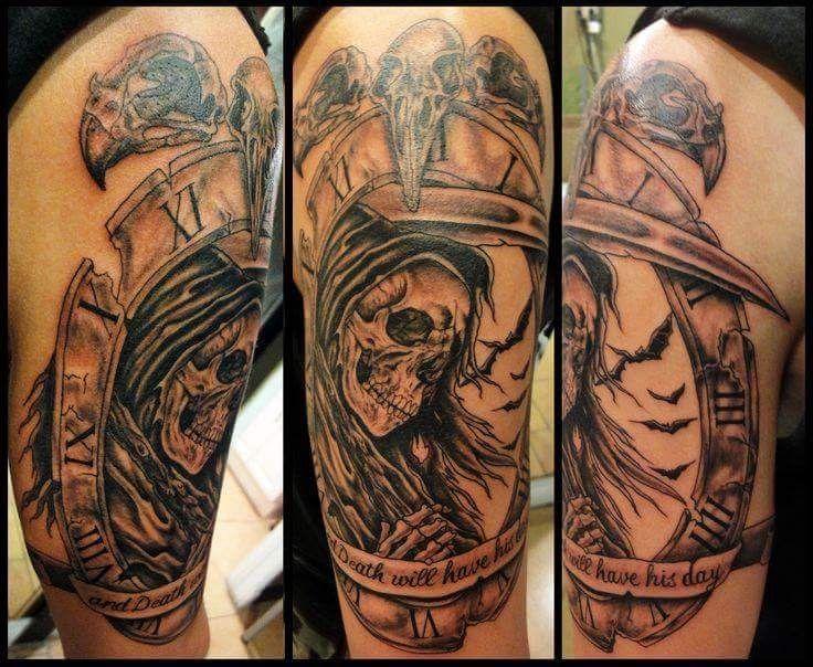 Reaper tattoo image by Jonny Burton on Tattoo ideas Grim