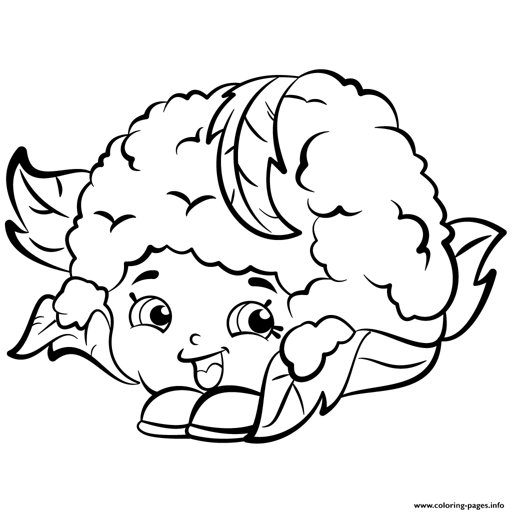 Cauliflower Chloe Shopkins Season 2 Coloring Pages Printable And Book To Print For Free Find More Online Kids Adults Of