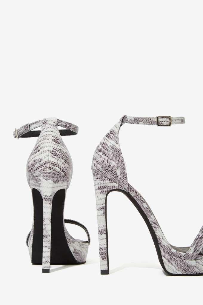 Jeffrey Campbell Finola Leather Python Heel Heels Fashion Shoes