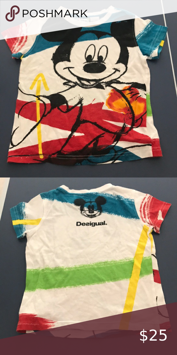 Desigual Mickey Mouse Top Size 4 Desigual Clothes Design Tops Tees