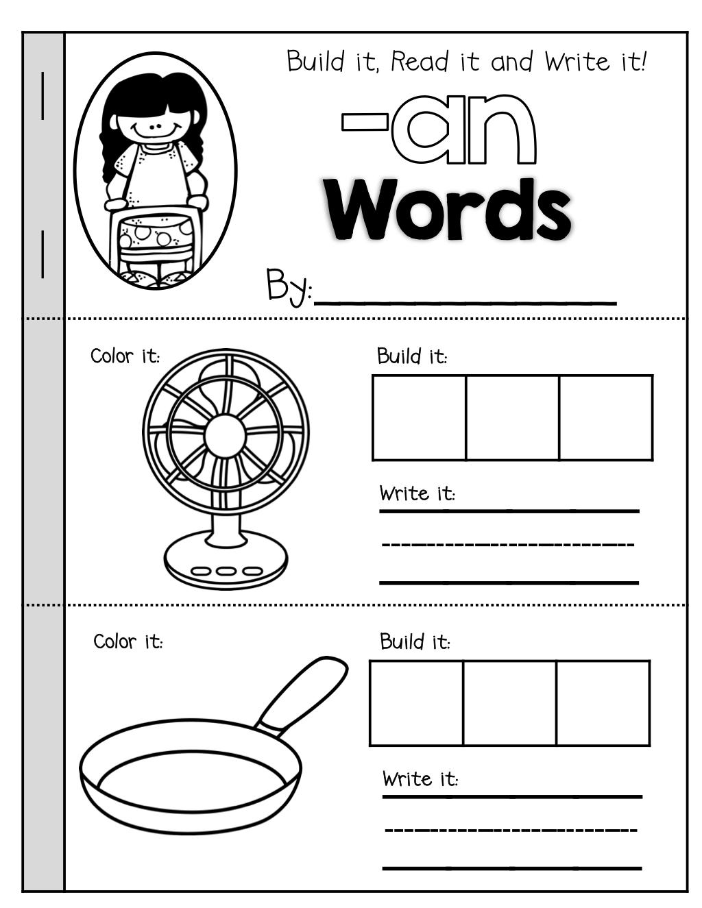 Cvc Booklets Build It Read It Write It Kindergarten Phonics Worksheets Word Families Cvc Words [ 1325 x 1024 Pixel ]