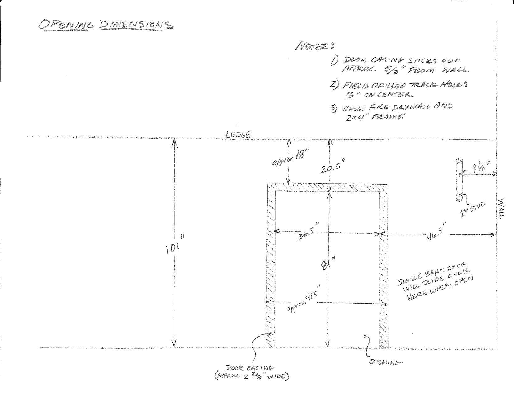 Perfect 20101130 Barn Door Dimensions   Steve Miller