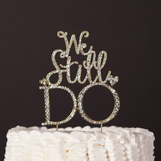 We Still Do 60th Cake Topper,Vow Renewal Cheers To 60 Years Cake Decor,60th Wedding Anniversary Party Decorations