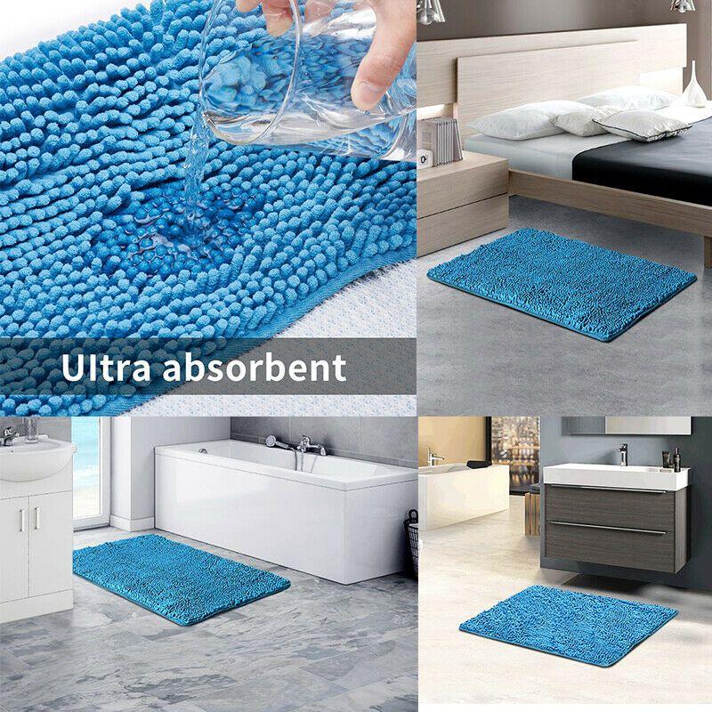 Mat Door Floor Bath Mat Bathroom Shower Rug Non Slip Soft Absorbent Carpet Toilt In 2020 Large Bathroom Rugs Washable Bathroom Rugs Luxury Bath Rugs