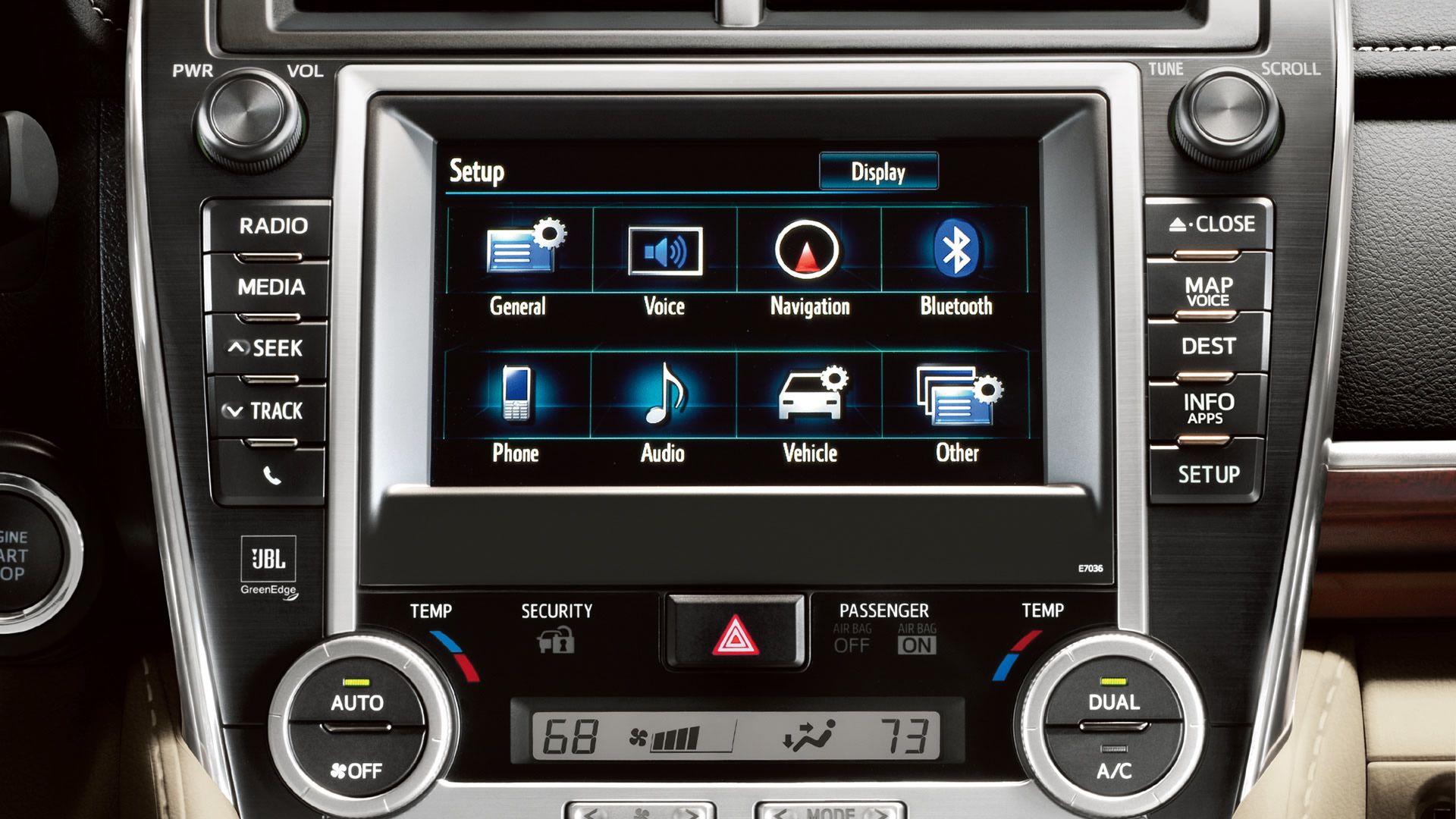 Sleek dashboard control electronics Toyota camry, Camry