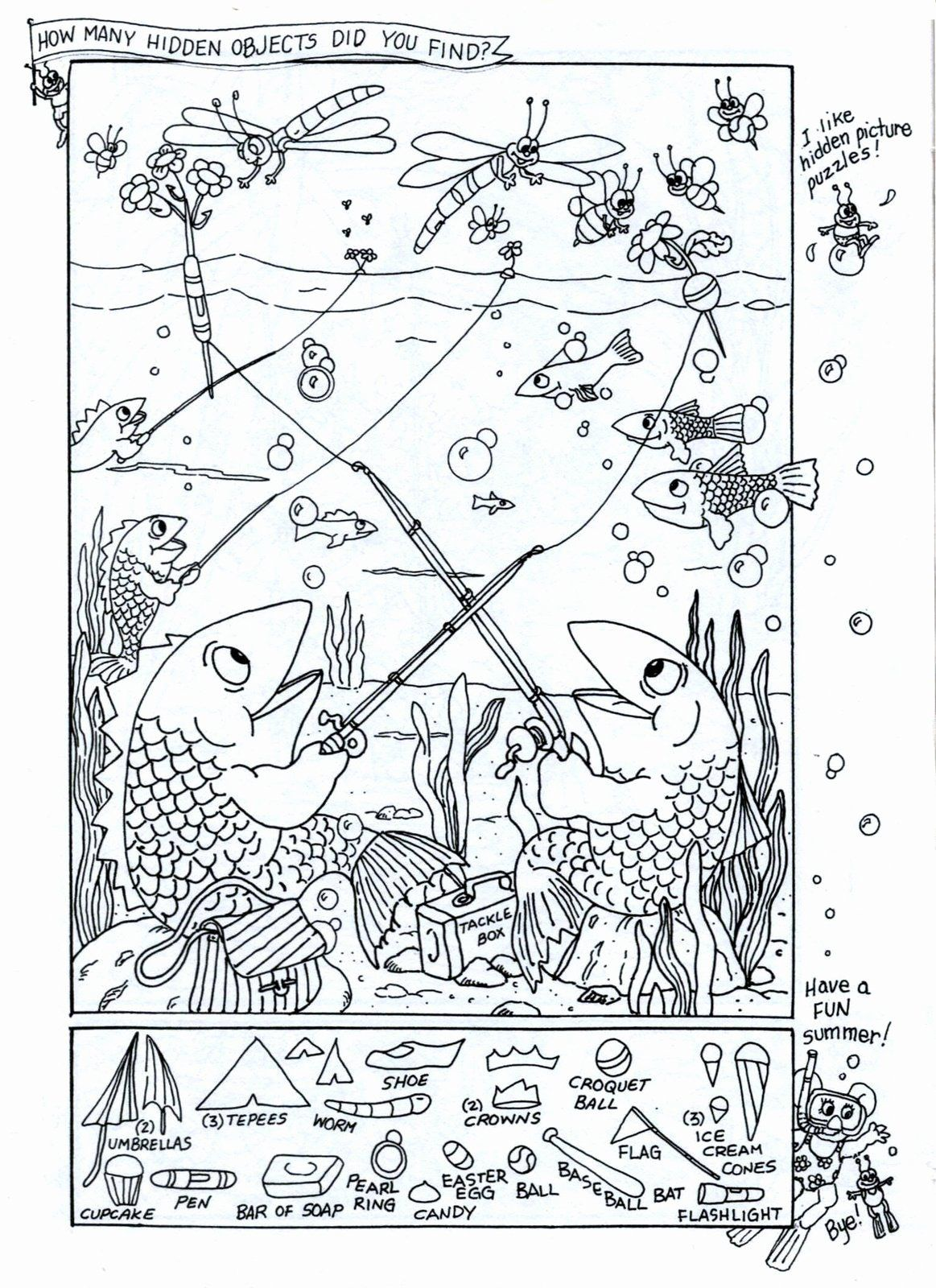Hidden Picture Coloring Sheets In