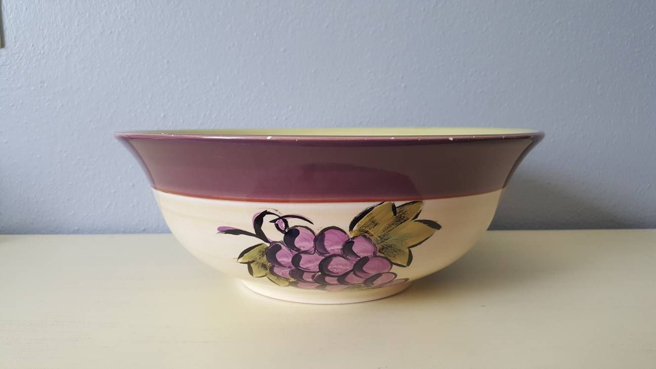 Living Art hand painted bowl by Vintagetimelessdecor on Etsy & Living Art hand painted bowl by Vintagetimelessdecor on Etsy ...