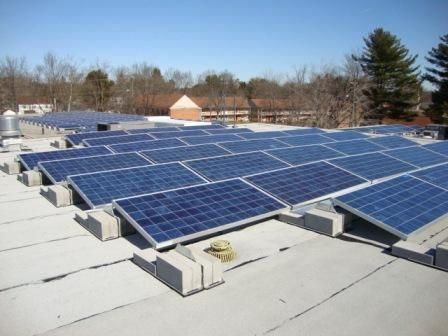 Bishops Corner Library, West Hartford CT: Solar Panels