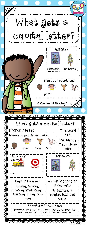 Capital Letters Printable Kindergarten Writing Homeschool Writing Classroom Writing [ 2197 x 856 Pixel ]