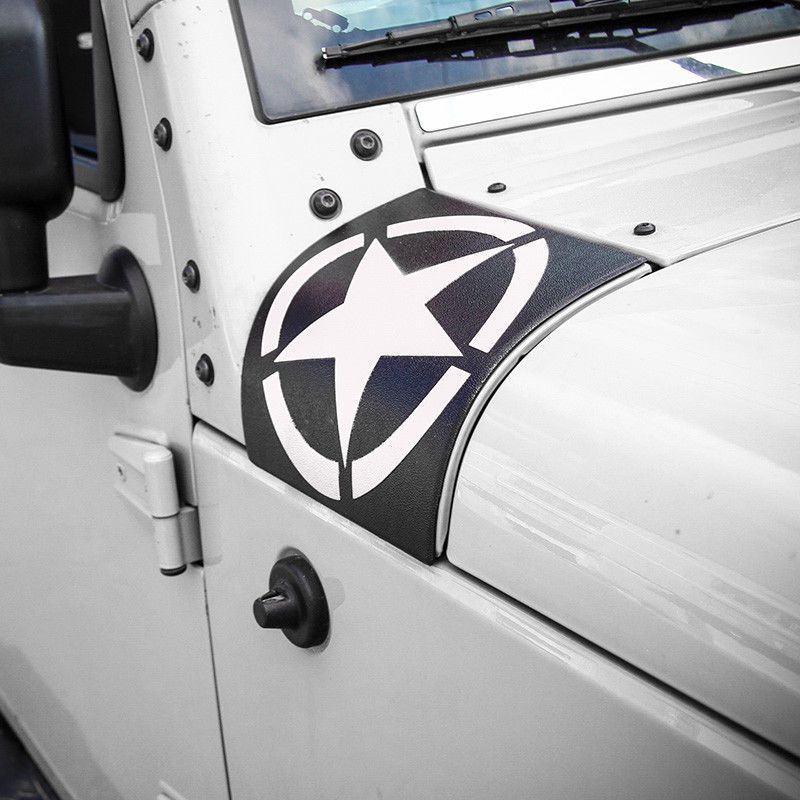 Cowl Body Armor Cover For Jeep Wrangler Rubicon Sahara Jk