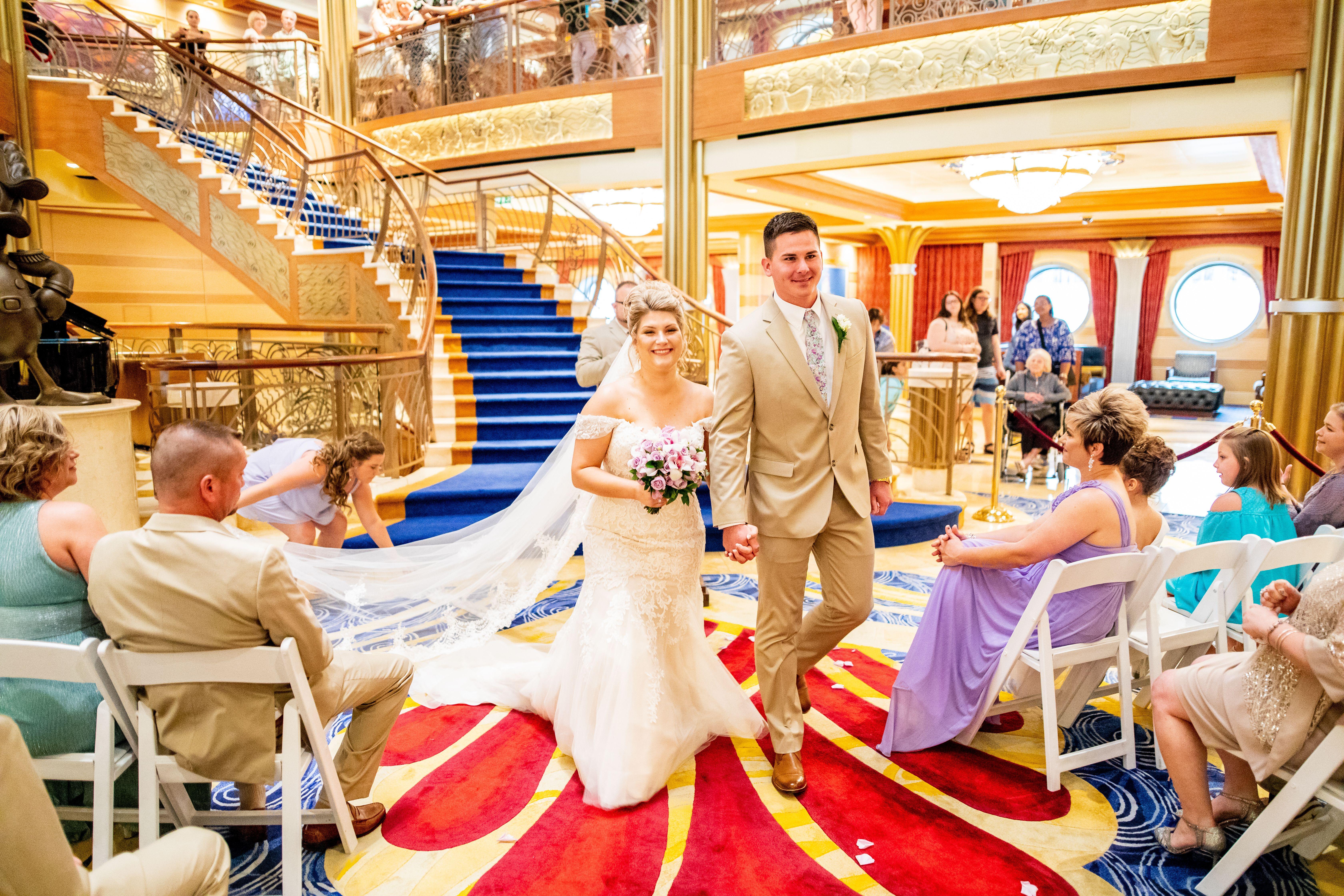 Disney Cruise Wedding.Disney Dream Atrium Cruise Wedding Ceremony Disney Cruise Line