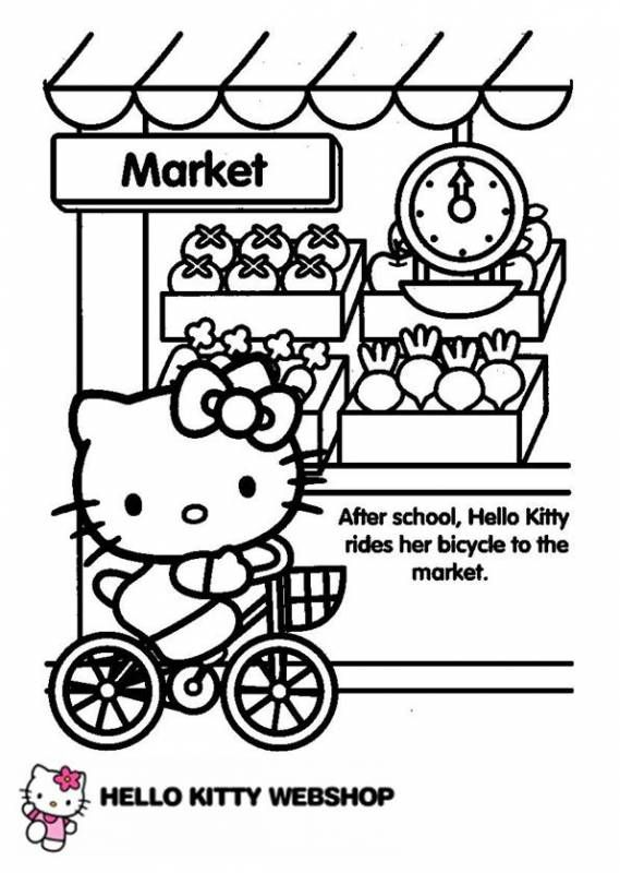 21++ Hello kitty coloring pages bicycle info