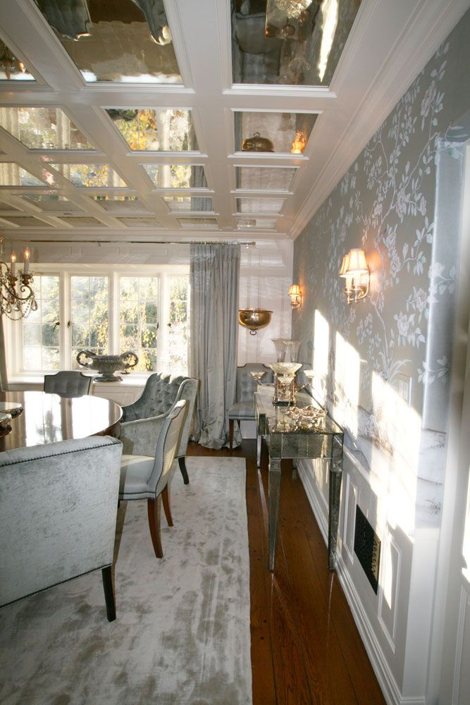 Omg The Mirrored Ceiling Elegant Dining Room Interior