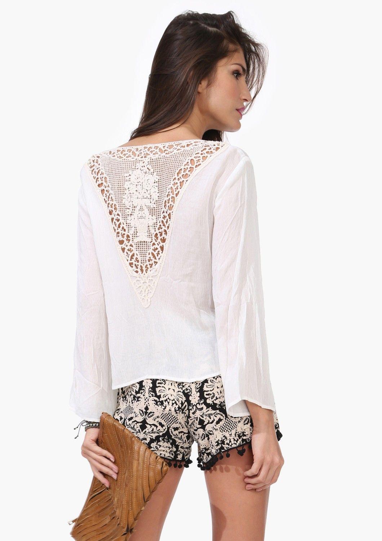 Crochet shirt as an exclusive wardrobe item 4
