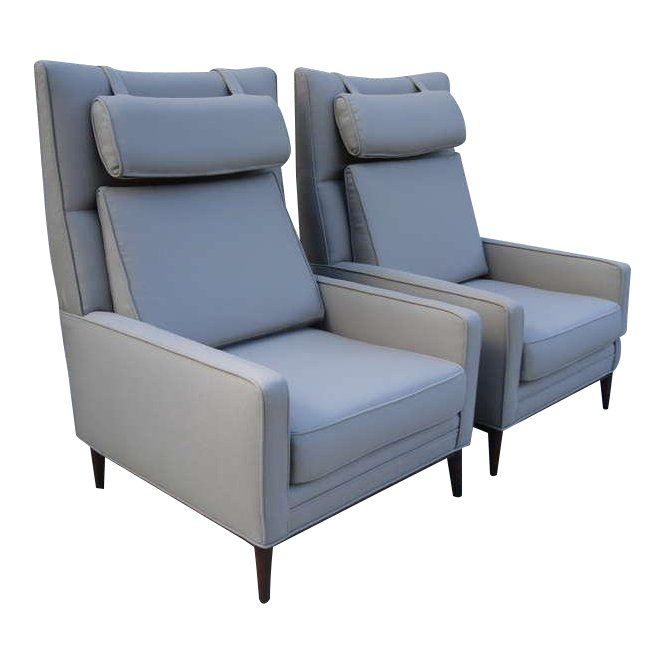 Pair of Paul McCobb Oversized Architectural Armchairs Products in