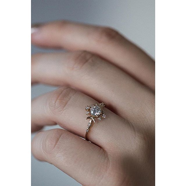"""For a love everlasting, the poetic Wandering Star ring. """"you are my sun, my moon, and all my stars...""""  available at morphejewelry.com and @catbirdnyc wedding annex"""