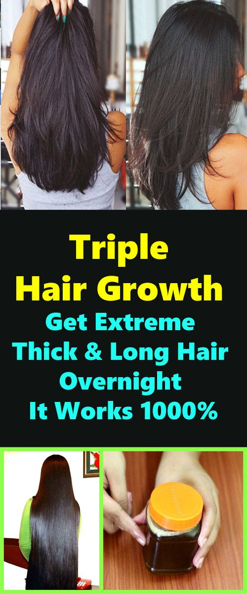 Triple Hair Growth – Get Extreme Thick & Long Hair Overnight It Works 1000%