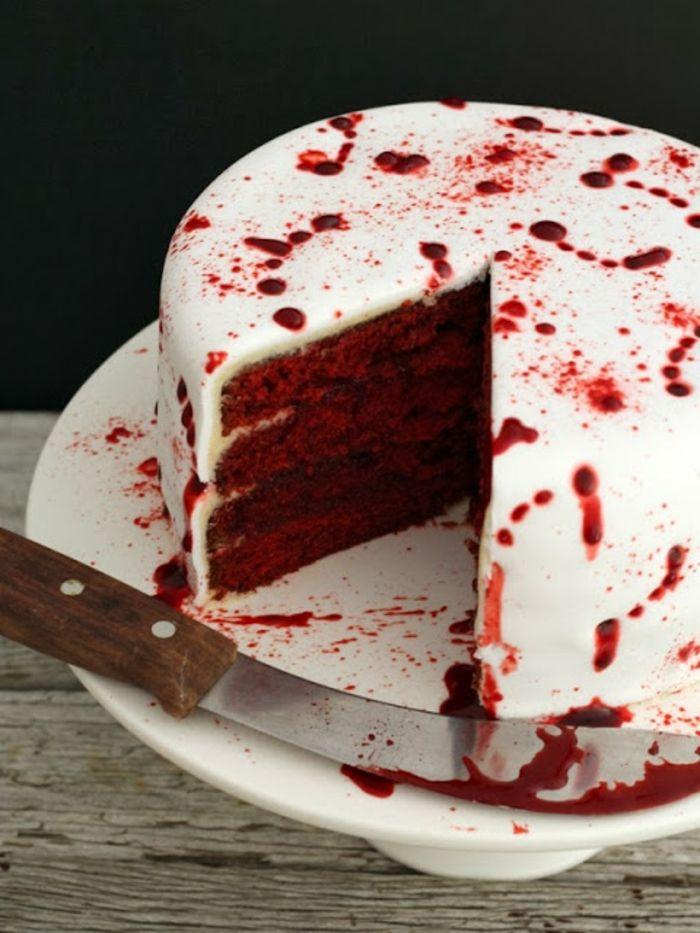 Halloween Kuchen - Achtung: ein leckerer Vampiralarm! #halloweenrezepte