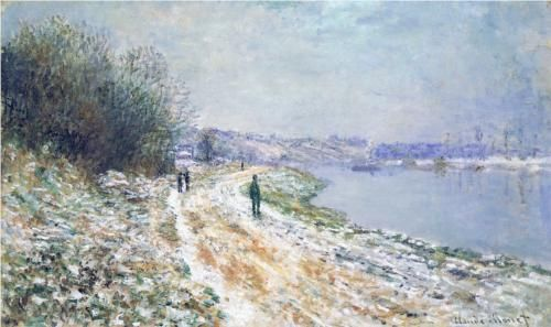 The Tow Path at Argenteuil, Winter - Claude Monet