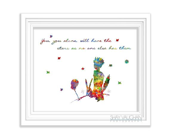 The Little Prince Art Print Watercolor Painting Quote Poster Le Pe Nursery Decor Children S Room No 244