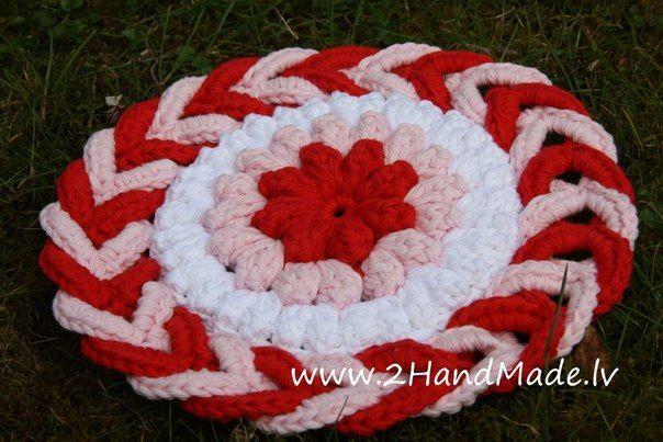 Como hacer un Cojin de Silla con Telar y Gancho - Patrones Crochet ...