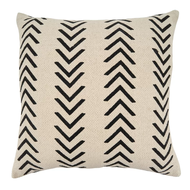 Gustel Cotton Geometric 22 Throw Pillow Cover In 2021 Chevron Throw Pillows Throw Pillows Geometric Throw Pillows