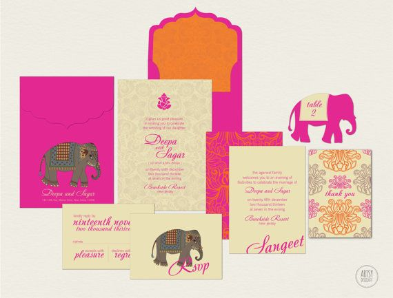 Today We Are Heading Back To The Continent Of Asia With These Indian Wedding Invitations Full Colors And Patterns Detailed