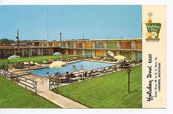 Holiday Inn Motel Lansing Michigan Swimming Pool 1960 39 S Retro Pinterest Lansing