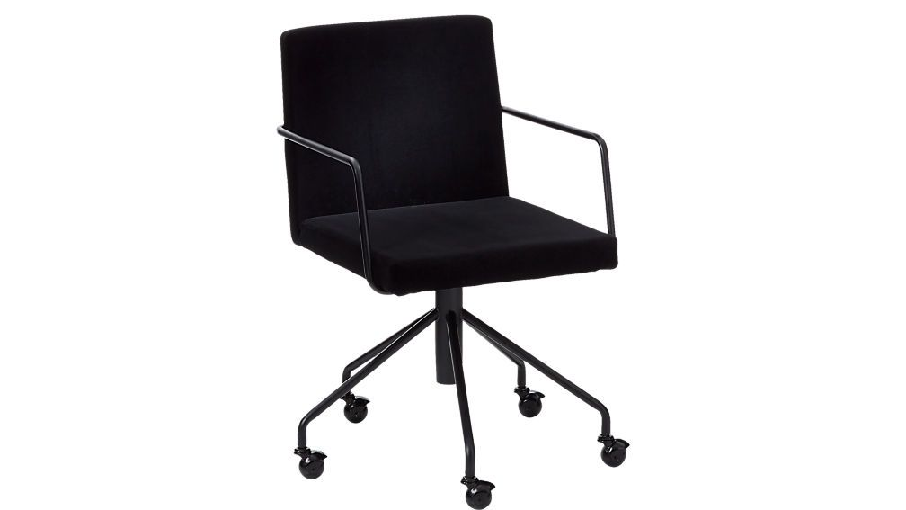 Rouka Black Velvet Office Chair Reviews Black Office Chair Velvet Office Chair Accent Chairs For Sale