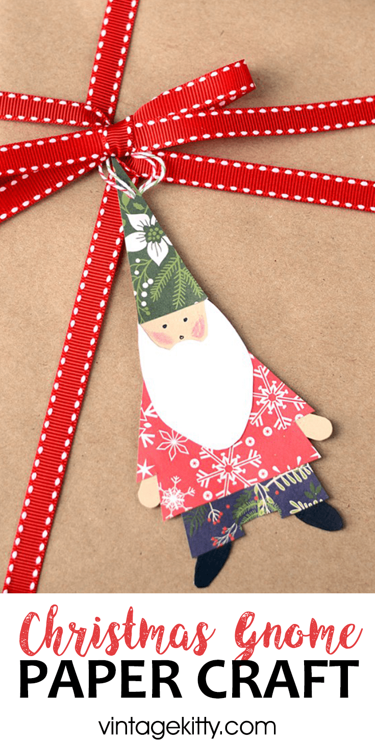 This Christmas Gnome Craft Is A Fun Project For Kids And Adults Use These Paper Gn Christmas Paper Crafts Preschool Christmas Crafts Christmas Ornament Crafts