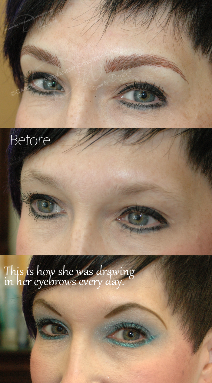 Permanent Eyebrows Tattoo What A Difference Natural Looking Hair