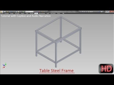 Fabrication of frame for Table by Frame Generator (Autodesk Inventor ...