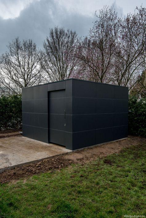 Design Gartenhaus by desogngarten mit HPL niemals