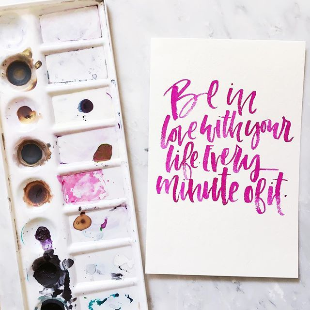 Sometimes messy, imperfect brush lettering explains this crazy, messy life, perfectly.