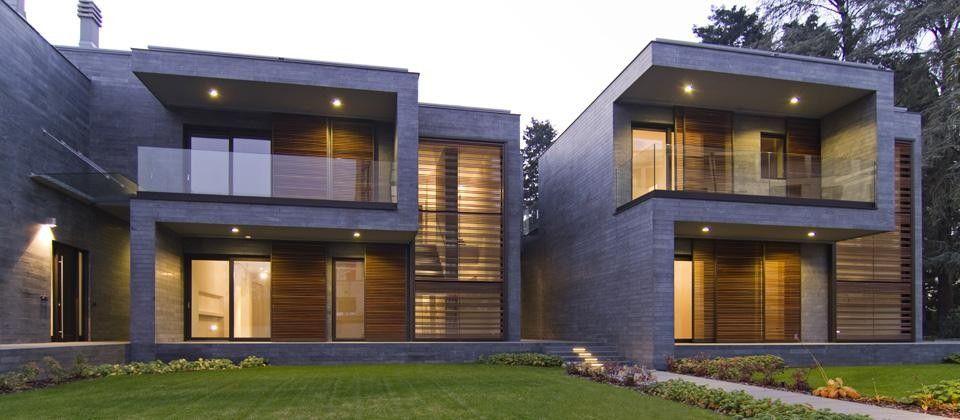 Blast architetti tre abitazioni unifamiliari gallarate for Case arredate da architetti