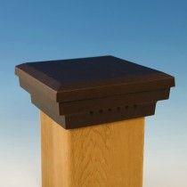 Premium Cast Flat Top Post Cap By Dekor 5 1 2 Oil Rubbed Bronze Metal Post Caps Post Cap Deck Post Caps