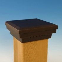 Premium Cast Flat Top Post Cap By Dekor 5 1 2 Oil Rubbed Bronze