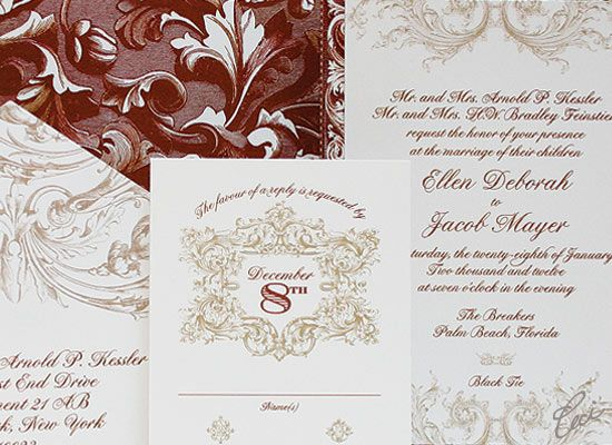 Venetian Luxury Wedding Invitations Details The Breakers Palm Beach Ceci Partnerships
